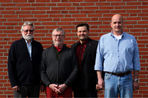 Der neue Vorstand des Ortsvereins. (v.l.: Manfred Glückstadt, Dr. Bernd Scharnweber, Tobias Hercher, Fred Hansen).